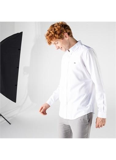 Lacoste Lacoste Erkek Slim Fit Beyaz Gömlek Beyaz